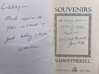 SOUVENIRS. by Wetherell, W. D.