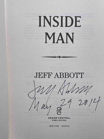 INSIDE MAN. by Abbott, Jeff.