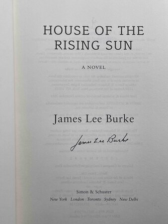 HOUSE OF THE RISING SUN. by Burke, James Lee.