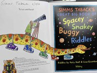 SIMMS TABACK'S GREAT BIG BOOK OF SPACEY, SNAKEY, BUGGY RIDDLES. by Taback, Simms, illustrator. Riddles by Katy Hall and Lisa Eisenberg.