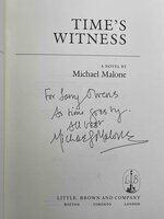 TIME'S WITNESS. by Malone, Michael.