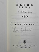 BLOOD LINE: A Gabe Wager Mystery. by Burns, Rex.