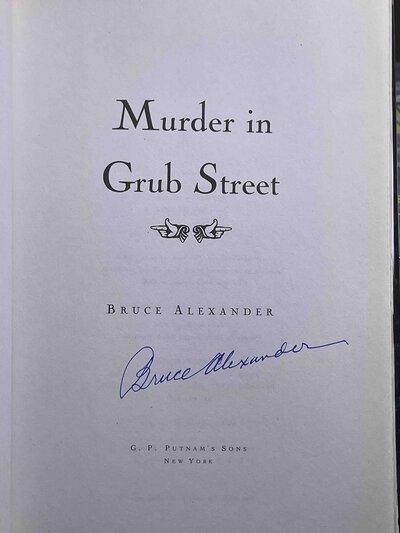 MURDER IN GRUB STREET. by Alexander, Bruce.