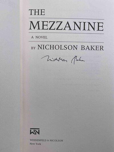 THE MEZZANINE. by Baker, Nicholson.
