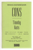 CONS. by Watts, Timothy.